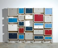 Dutch De Stijl style storage cabinet. Maker unknown. c. 1960