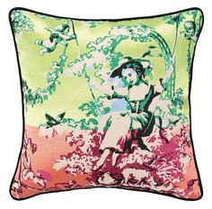 """Down-Filled Embroidered Pillows  20"""" x 20""""  Please allow 1 - 2 weeks to ship out and receive tracking."""