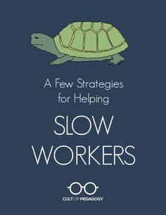 A Few Strategies to Help Slow Working Students (Cult of Pedagogy) Instructional Strategies, Differentiated Instruction, Teaching Strategies, Teaching Tips, Differentiation Strategies, Teaching Methodology, Instructional Technology, Classroom Behavior, School Classroom