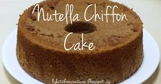 If you like chocolate or nutella , Hi 5 ! I have some nutella that I want to use up and I decided to make a Nutella Chiffon Cake . ...