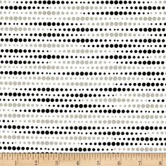 Illustrations 2 Dots White from @fabricdotcom  Designed by P&B Boutique for P&B Textiles, this cotton print is perfect for quilting, apparel and home decor accents.  Colors include black, white and grey.