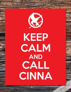 Keep Calm and Call Cinna Hunger Games  Typography by hyssopdesign  he's the coolest. character. evarrrrrrrrr.