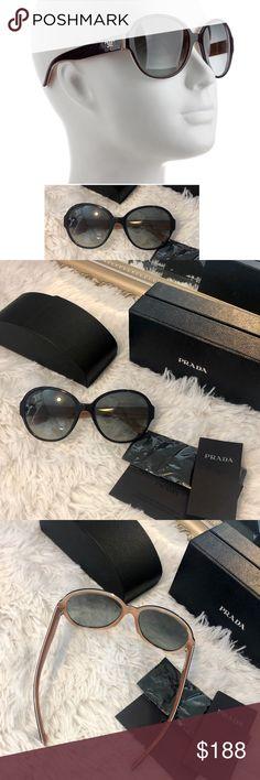 ded99e7fd636 NIB PRADA sunglasses Just listed💌 New in Box! dark navy blue acetate  oversize round