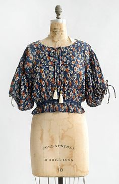 37cda6a583210a Vintage Inspired Bohemian Top / Boho Floral Top / Mojave Asters Top –  Adored Vintage Blondetoppe