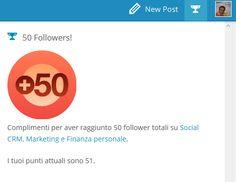 50 followers per mio blog