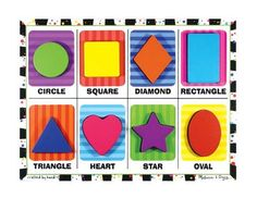 Amazon.com: Melissa & Doug Shapes - Chunky Puzzle: Toys & Games