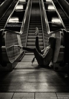 Ella Ballerina in the subway nr.9 by Max Modén - Photo 115636567 - 500px