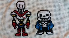 Sans and Papyrus from the Classic RPG Undertale - Cross stitch