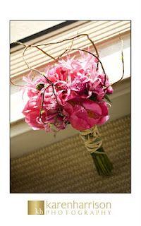 Nerine lilies and peonies