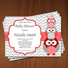 Hey, I found this really awesome Etsy listing at https://www.etsy.com/listing/176254405/owl-baby-shower-invitation-girl-baby