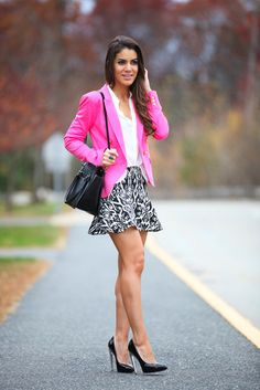 How to Wear a Hot Pink Blazer (46 looks) | Women's Fashion