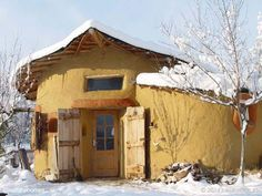 This is one of a collection of seven naturally built homes around the world in their winter setting. You can see the others in the collection here www.naturalhomes.org/natural-homes-in-winter.htm