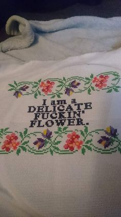 Delicate fucking flower.