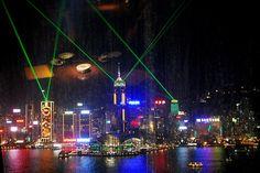 Hong Kong light show - Google Search