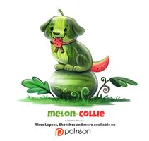 Day 1375. Melon-Collie by Cryptid-Creations