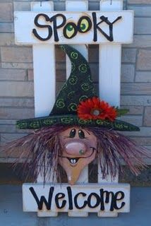 Witch fence door greeter...a Twiddlebugz creation