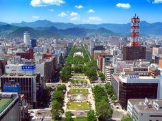 Linear park in Sapporo, Japan