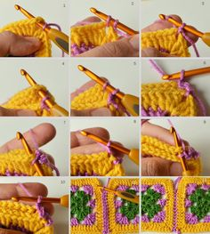 3 Ways to Join Granny Squares - LillaBjörn's Crochet World