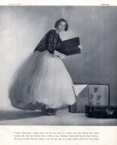 1953, Balenciaga White Tulle Dancing Dress, Photo by Louise Dahl-Wolfe