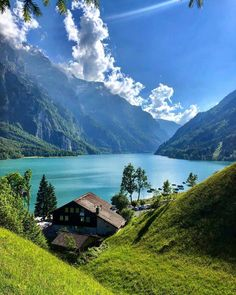 Monday from Klöntalersee Lake in the region of Glarus Switzerland . Happy Monday from Klöntalersee Lake in the region of Glarus Switzerland Would you dare to swim in that freezing cold water? Tag someone you would love to take here with you! Places In Switzerland, Switzerland Vacation, Geneva Switzerland, Beautiful Places To Travel, Beautiful World, Switzerland Wallpaper, Nature Pictures, Beautiful Pictures, Nature Photography