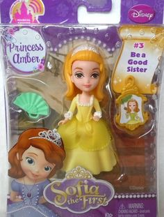 "Disney Sofia The First  Princess Amber 3"" Mini Doll~ Sofia's Sister!~New in Box  #Disney"