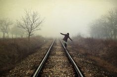 I love trains and train tracks...there's just something mystical about them...