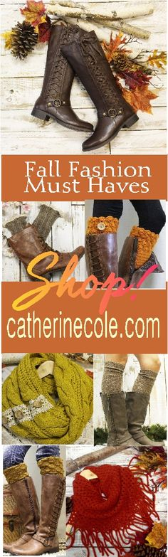 Get ready for Fall! Tall boots, scarves, boot socks and cuffs and so many more…