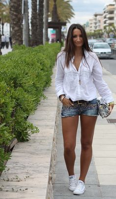 #fashion #fashionista Erika From Boho to Chiic: Embellished Shorts
