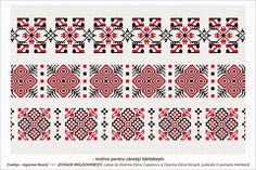 Semne Cusute: Romanian traditional motifs - MOLDOVA - Neamt - Costisa Loom Beading, Beading Patterns, Knitting Patterns, Embroidery Motifs, Folk Fashion, Moldova, Vector Pattern, Cross Stitch Patterns, Traditional