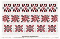 Semne Cusute Loom Beading, Beading Patterns, Knitting Patterns, Embroidery Motifs, Folk Fashion, Moldova, Vector Pattern, Cross Stitch Patterns, Traditional