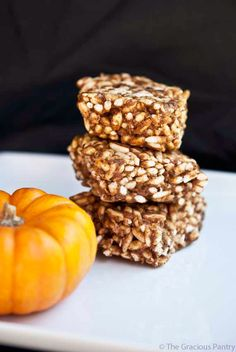These Clean Eating Rice Krispies Treats are a nutty treat kids of all ages will enjoy. Brought to you by Tiffany McCauley of TheGraciousPantry.com.
