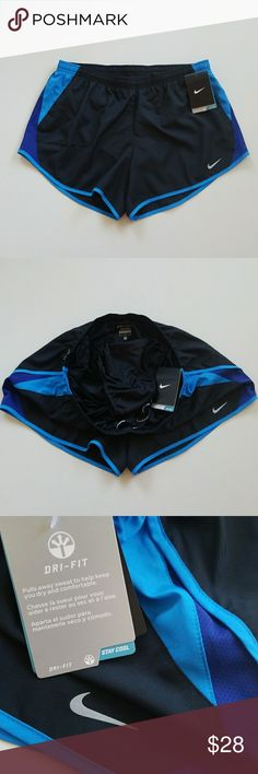 NWT Nike Running Shorts Built-in Undies New Nike workout  shorts with built in undies. Adjustable string waistband and small pocket inside. Nike Shorts