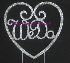 We Do Wedding Cake Topper - Crystal Diamonte Rhinestone Bling