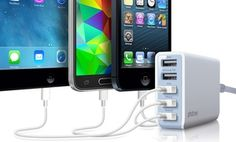 Groupon - Photive Five-Port 25W USB Rapid Charger in [missing {{location}} value]. Groupon deal price: $15.99