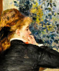 Pierre Auguste Renoir - Pensive (La Songeuse), 1875 at the Virginia Museum of Fine Arts (VMFA) Richmond VA