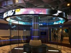 two sides LED display Flexible Display, Office Lobby, Interactive Media, Ice Rink, Multimedia, Astronomy, Signage, Flexibility, Glossier