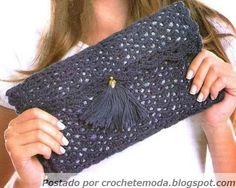 Crochetemoda: Carteira de Crochet Diagrama╭⊰✿Teresa Restegui http://www.pinterest.com/teretegui/✿⊱╮