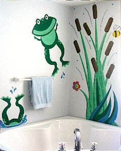 hand painted wall murals @Rachel Davis could totally do this :)