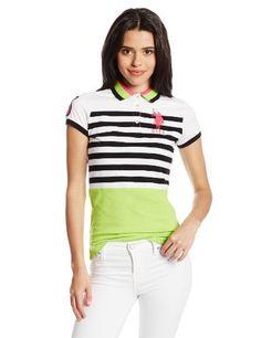 U.S. Polo Assn. Juniors Color Block and Stripe Jersey Polo:  dress  girl,  #clothes