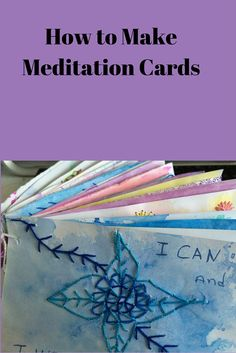 How to make DIY meditation cards.