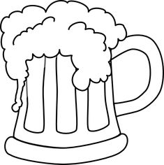 Rootbeer coloring pages ~ Frosty Mug of Rootbeer | Free Coloring Page - http ...