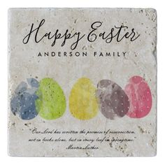 Modern colorful watercolor easter eggs personalize trivet spring modern colorful watercolor easter eggs personalize trivet romantic wedding gifts wedding anniversary marriage party negle Image collections