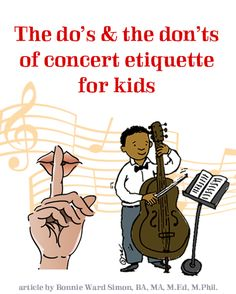 The do's and don'ts of concert etiquette for kids - teach kids to enjoy classical music
