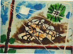 CANDIDO PORTINARI. Fogo - o.s.cartão - 11,1 x 17,2 cm - sem assinatura. Com documento do Projeto