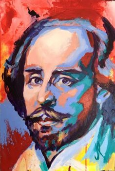 Buy Shakespeare Portrait Acrylic on Canvas 60x40 cm, Pintura acrílica by Javier Peña on Artfinder. Discover thousands of other original paintings, prints, sculptures and photography from independent artists.