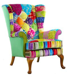 Tela de Patchwork de Penshurst silla diseñadores Guild