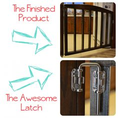 Rough instructions, but good tip for a D.I.Y baby/pet gate in an area that is extra wide,