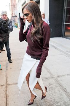 Victoria Beckham Wows In Workwear As She Leaves Her Offices In New York, 2014