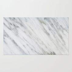Carrara Italian Marble Area & Throw Rug by Cafelab - $28.00