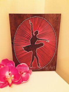 Ballerina String Art girls room decor
